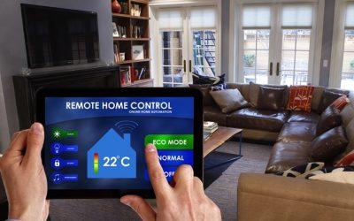 Remote home control concept image